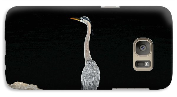 Night Of The Blue Heron 2 Galaxy S7 Case by Anthony Baatz