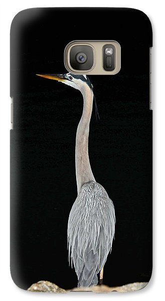 Night Of The Blue Heron 3 Galaxy S7 Case by Anthony Baatz