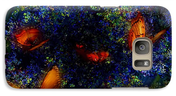 Galaxy Case featuring the digital art Night Of The Butterflies by Olga Hamilton