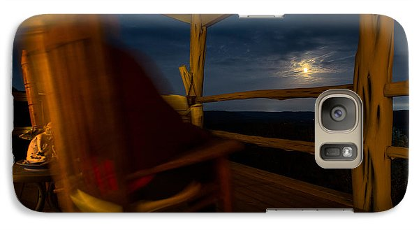 Galaxy Case featuring the photograph Night On The Porch by Darryl Dalton
