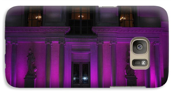 Galaxy Case featuring the photograph Night Purple by George Mount