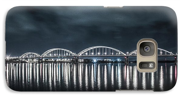 Galaxy Case featuring the photograph Night Reflections by Ray Congrove