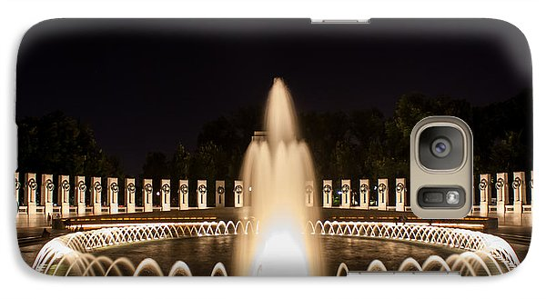 Galaxy Case featuring the photograph Night Reflections Wwii Memorial  by Dawn Romine
