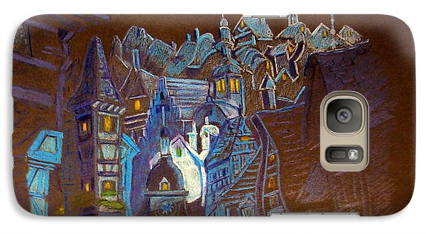 Galaxy Case featuring the drawing Night Scene Tangled Town by Joseph Hawkins