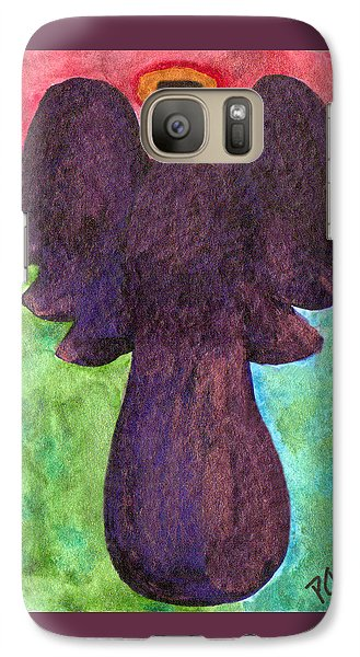 Galaxy Case featuring the painting Night Shift Angel by Paula Ayers