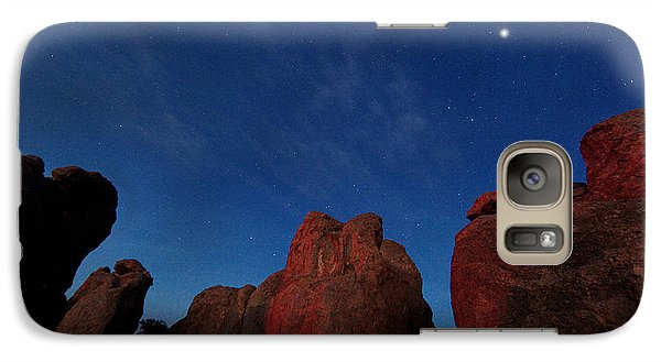 Galaxy Case featuring the photograph Night Sky City Of Rocks by Martin Konopacki