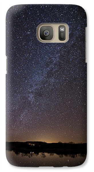 Night Sky Reflected In Lake Galaxy S7 Case by Melany Sarafis
