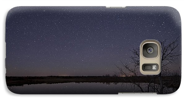 Night Sky Reflection Galaxy S7 Case by Melany Sarafis
