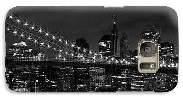 Night-skyline New York City Bw Galaxy S7 Case by Melanie Viola