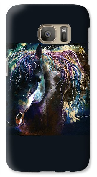 Galaxy Case featuring the painting Night Stallion by Sherry Shipley