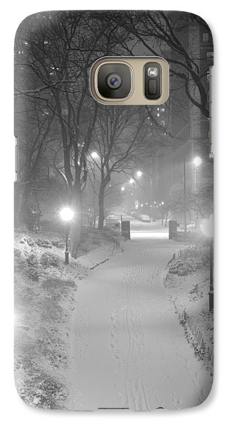 Galaxy Case featuring the photograph Night Storm New York by Dave Beckerman
