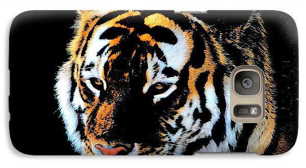 Galaxy Case featuring the photograph Night Tiger by John Freidenberg