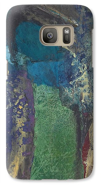Galaxy Case featuring the mixed media Night Trees by Catherine Redmayne