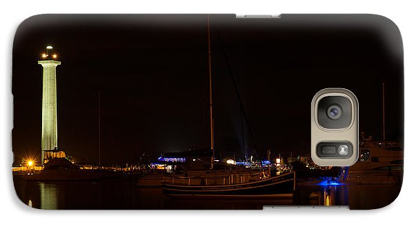 Galaxy Case featuring the photograph Night View Of Put-in-bay by Haren Images- Kriss Haren