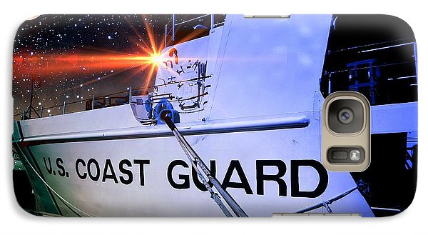 Galaxy Case featuring the digital art Night Watch Us Coast Guard by Aaron Berg