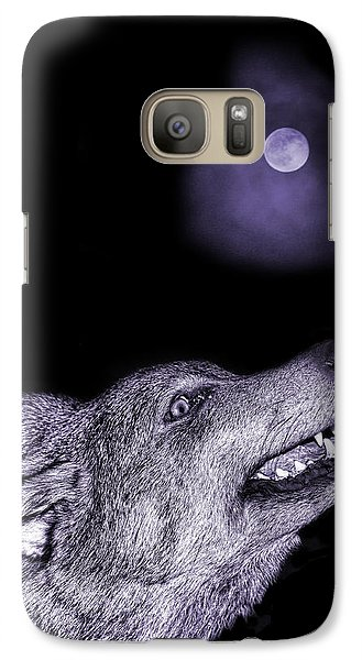 Galaxy Case featuring the photograph Night Wolf by Angel Jesus De la Fuente