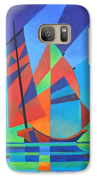 Galaxy Case featuring the painting Nightboat by Tracey Harrington-Simpson