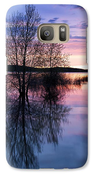Galaxy Case featuring the photograph Nightfall Reflection  by The Forests Edge Photography - Diane Sandoval