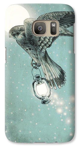 Hawk Galaxy S7 Case - Nighthawk by Eric Fan