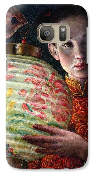 Galaxy Case featuring the painting Nightingale Girl by Jane Bucci