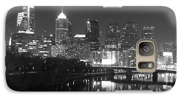 Galaxy Case featuring the photograph Nighttime In Philadelphia by Alice Gipson