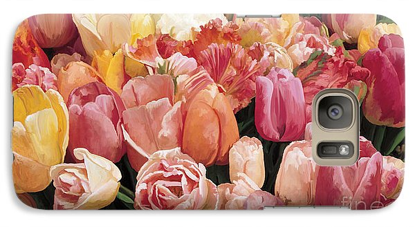 Galaxy Case featuring the painting Nikki's Tulips by Tim Gilliland