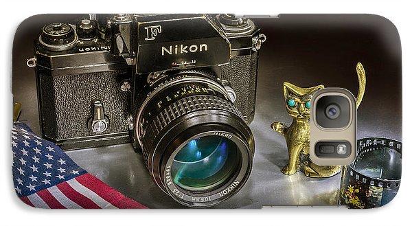 Galaxy Case featuring the photograph Nikon F by Vladimir Kholostykh