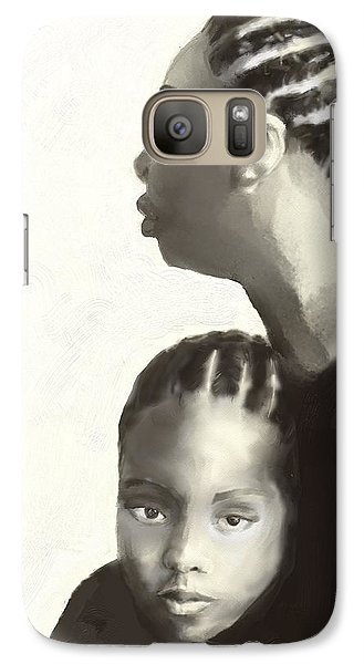 Galaxy Case featuring the drawing Nina And Lisa Simone by Vannetta Ferguson