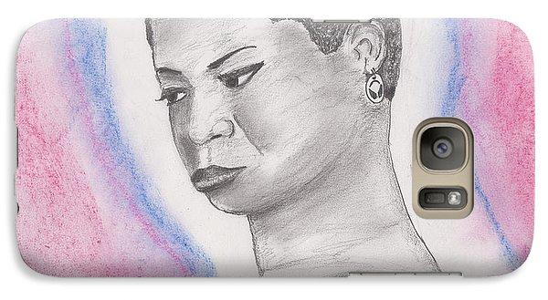 Galaxy Case featuring the drawing Nina Simone by David Jackson