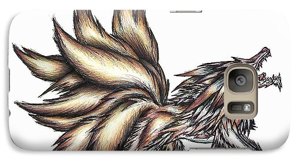 Galaxy Case featuring the painting Nine Tails Wolf Demon by Shawn Dall