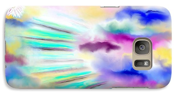 Galaxy Case featuring the painting Nirvana by Lori  Lovetere