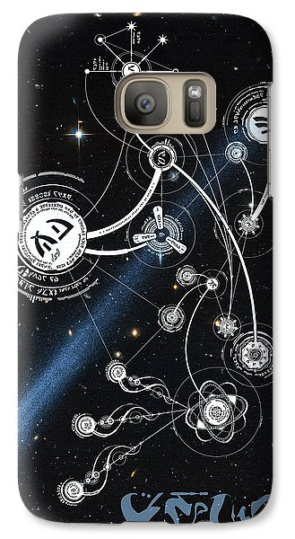 Galaxy Case featuring the photograph No. 1 Alien Greeting Card by Robert Kernodle