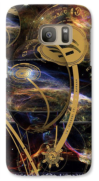 Galaxy Case featuring the photograph No. 3 Alien Greeting Card by Robert Kernodle