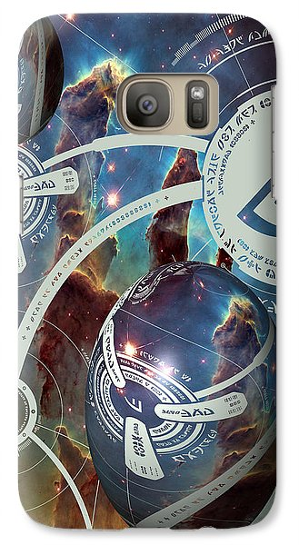 Galaxy Case featuring the photograph No. 4 Alien Greeting Card by Robert Kernodle