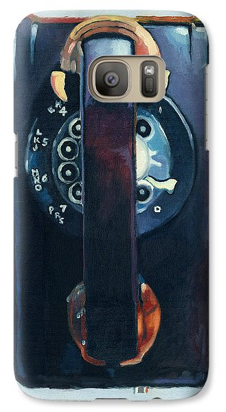 Galaxy Case featuring the painting No Answer by Katherine Miller