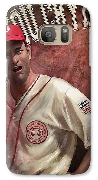 Galaxy Case featuring the digital art No Crying In Baseball by Steve Goad