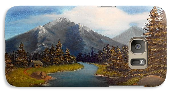 Galaxy Case featuring the painting No Electronics Here by Sheri Keith