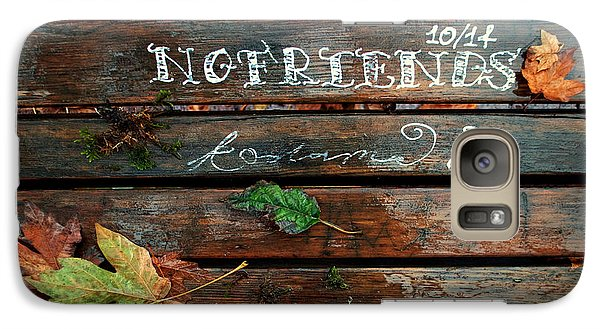 Galaxy Case featuring the photograph No Friends by Gwyn Newcombe