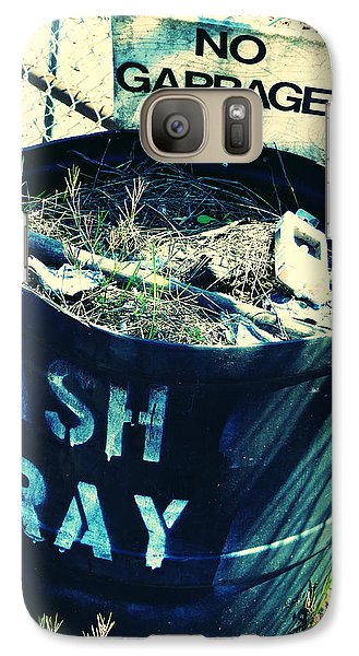 Galaxy Case featuring the photograph Ash Tray Steel Drum by Laurie Tsemak