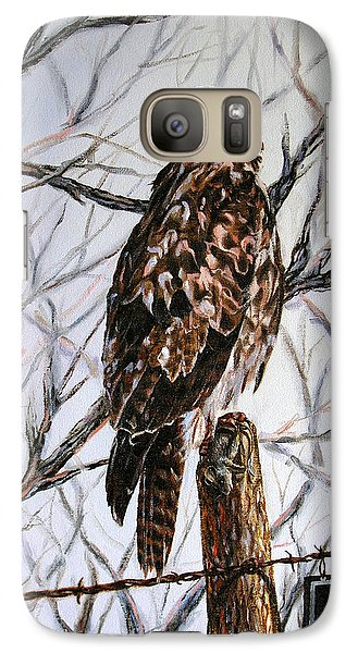 Galaxy Case featuring the painting No Hunting by Craig T Burgwardt
