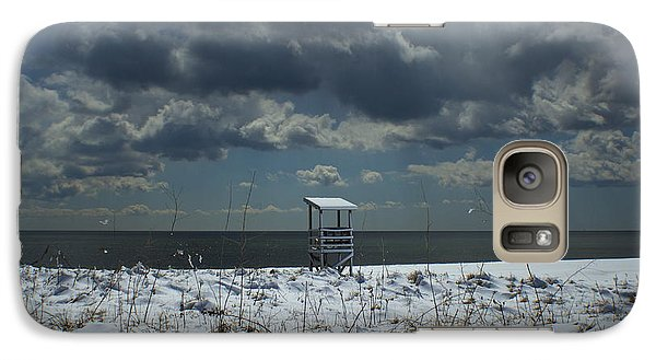 Galaxy Case featuring the photograph No Lifeguard On Duty by Amazing Jules