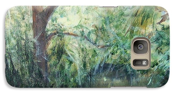 Galaxy Case featuring the painting No Man's Land by Mary Lynne Powers