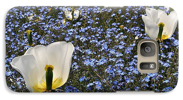 Galaxy Case featuring the photograph No More Tulips by Simona Ghidini