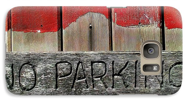 Galaxy Case featuring the photograph No Parking by James Aiken