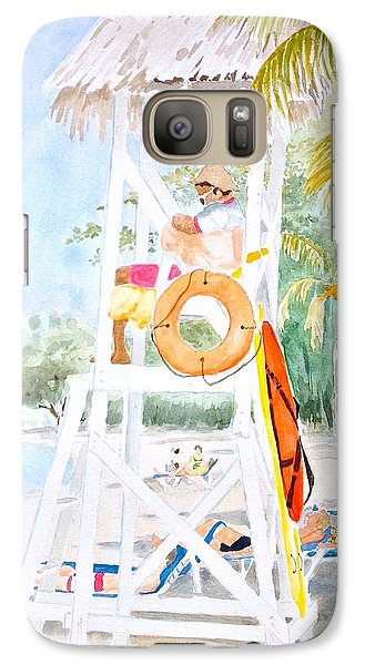 Galaxy Case featuring the painting No Problem In Jamaica Mon by Marilyn Zalatan
