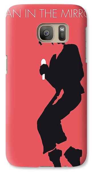 No032 My Michael Jackson Minimal Music Poster Galaxy Case by Chungkong Art