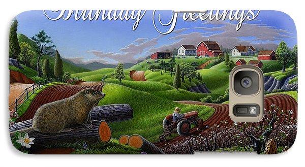 Groundhog Galaxy S7 Case - no14 Birthday Greetings 5x7 greeting card  by Walt Curlee