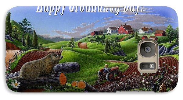 Groundhog Galaxy S7 Case - no14 Happy Groundhog Day 5x7 greeting card  by Walt Curlee