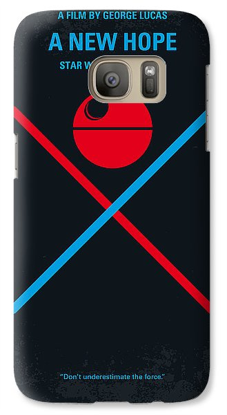 Knight Galaxy S7 Case - No154 My Star Wars Episode Iv A New Hope Minimal Movie Poster by Chungkong Art
