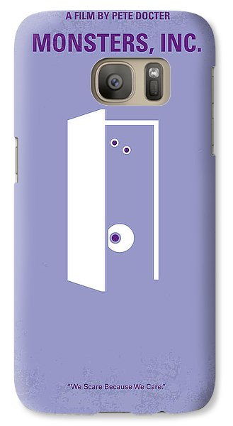 No161 My Monster Inc Minimal Movie Poster Galaxy S7 Case by Chungkong Art